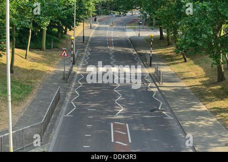 Empty London road - Stock Image