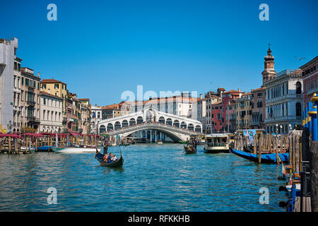 Canals of Venice, Italy - Stock Image