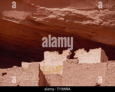 White House Ruin. Canyon de Chelly National Monument, Arizona. - Stock Image