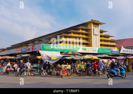 Psar Nath, Central Market, Battambang, Cambodia, Asia - Stock Image