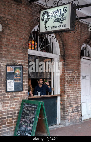 Molly's at the Market bar and restaurant, Decatur Street, New Orleans French Quarter, New Orleans, Louisiana, United States of America, USA. - Stock Image