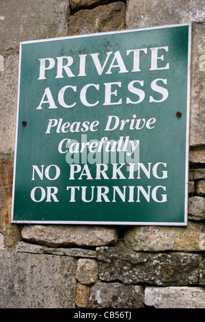 Private Access sign - Stock Image