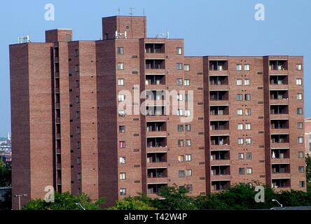 Apt Building in Baltimore, Md - Stock Image