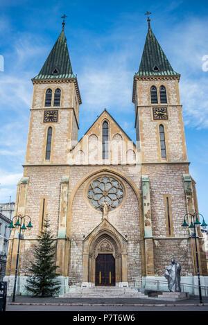 Sacred Heart Cathedral, Sarajevo, Bosnia and Herzegovina - Stock Image