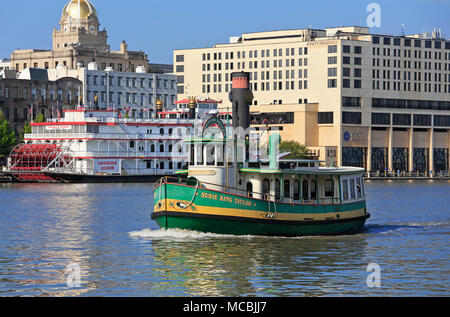 Savannah Georgia. Belles Ferry Susie King Taylor crossing the Savannah river. - Stock Image