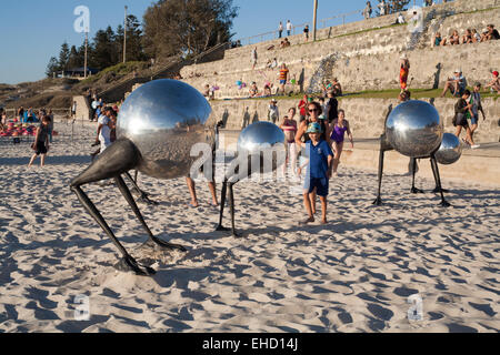 Artwork on display at the 2015 Sculpture By The Sea event at Cottesloe Beach, Perth. Western Australia. - Stock Image