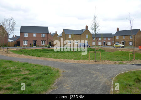 Balancing pond under construction to alleviate potential flooding on the Taylor Wimpey Bourne Lane estate in the - Stock Image