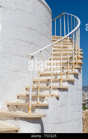 Steps leading into the Paphos lighthouse, Paphos, Cyprus - Stock Image