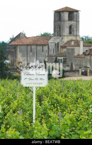 chateau canon saint emilion bordeaux france - Stock Image