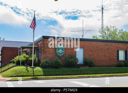 HICKORY, NC, USA-22 JUNE 18: Griffith's, Inc. is a private security business, licensed in the state of North Carolina. - Stock Image