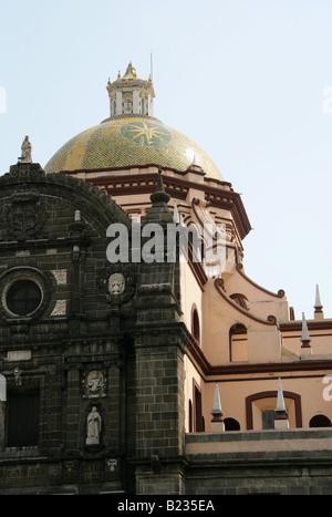 Puebla Cathedral, Zocalo Square, Puebla City, Puebla State, Mexico - Stock Image