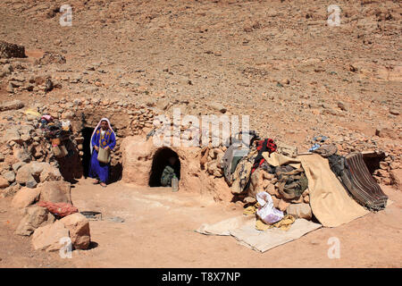 Bedouin / Nomadic Berber Caves near Todra Gorge, Tinghir, Morocco - Stock Image