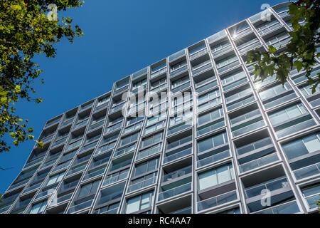 modern apartment building - Stock Image