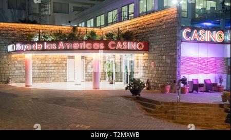 Playa de las Americas Casino, Costa Adeje, Tenerife, Canary Islands - Stock Image