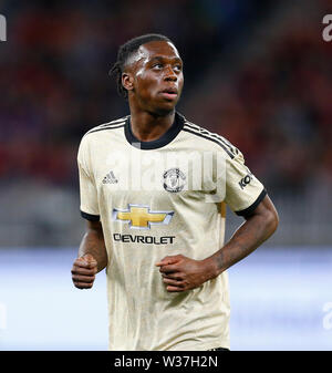 Optus Stadium, Perth, Western Australia. 13th July, 201913th July 2019, Optus Stadium, Perth, Western Australia; Pre-season friendly football, Perth Glory versus Manchester United; New signing Aaron Wan-Bissaka of Manchester United Credit: Action Plus Sports Images/Alamy Live News - Stock Image