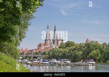 The Regensburg Cathedral St. Peter Is The Landmark Of The City Of Regensburg - Stock Image