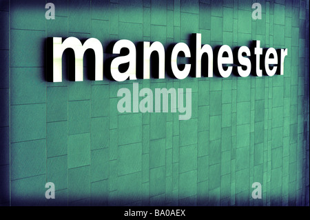 manchester sign - Stock Image