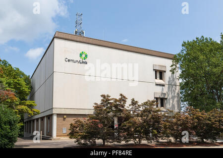 HICKORY, NC, USA-19 AUG. 2018: A CenturyLink building in downtown.  CentturyLink is a provider of phone, internet and TV services. - Stock Image