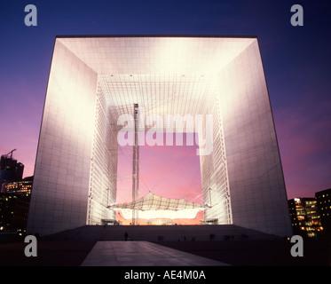 France Paris La Defense Grande Arche Grand Arch - Stock Image