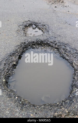 Potholes. - Stock Image