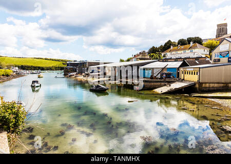 salcombe boatyard, Salcombe, Devon, UK, England, salcombe, boatyard, boatyards, UK, England, Devon, slipway, repairs, boatbuilders - Stock Image