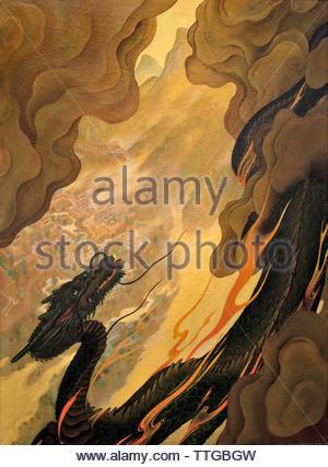 by Oskar Kokoschka born 1886 Austria Austrian (expressionistic portraits and landscapes) - Stock Image