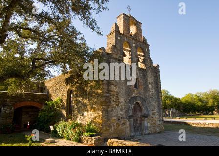 Mission Espada missions national park San Antonio Texas Tx - Stock Image