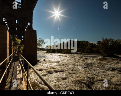 James River Pipeline Richmond Virginia - Stock Image