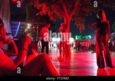 DC-10 club in Ibiza - Stock Image