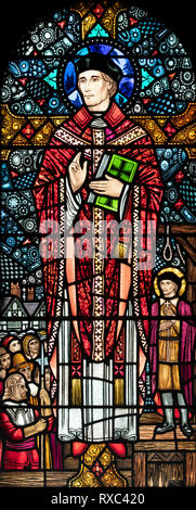 St. John Southworth, a Roman Catholic martyr, who was executed in 1654, St. Oswald & St. Edmund Church, Ashton-in-Makerfield, Greater Manchester, UK - Stock Image