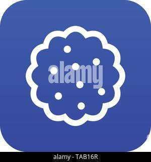 Cookies icon digital blue - Stock Image