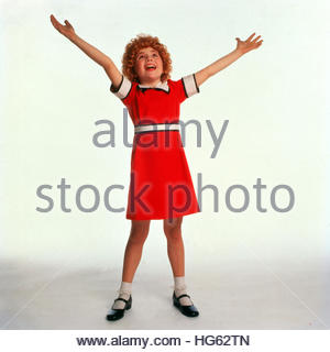 ANNIE (1982) - pictured:  Aileen Quinn - Stock Image
