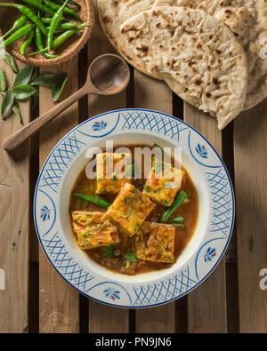 Omelette curry. India Sri Lanka Food - Stock Image