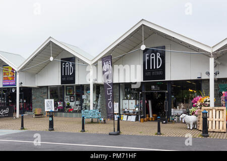 FAB Home Interiors store on Glebe Road, Bowness-on-Windermere in the English Lake District. FAB Home Interiors specialise in home interior decor. - Stock Image