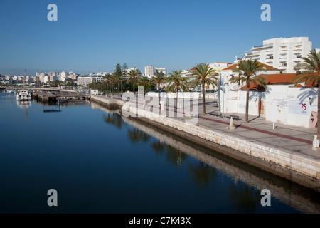 Portugal, Algarve, Portimao, Promenade - Stock Image