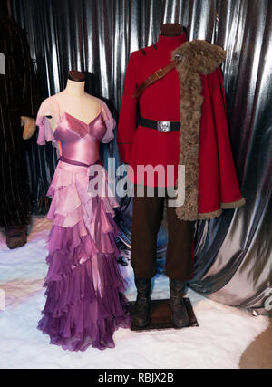 Costumes worn by Stanislav Yanevski  (Viktor Krum)  and  Emma Watson (Hermione Granger), at the Yule Ball  in Harry Potter and the Goblet of Fire - Stock Image