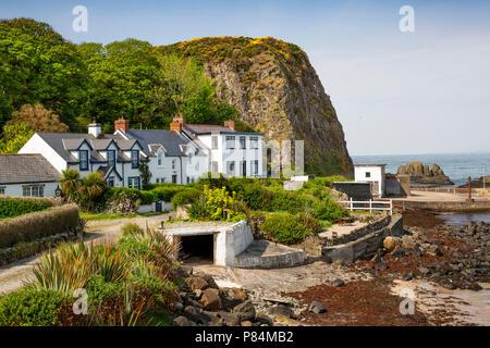UK, Northern Ireland, Co Antrim, Portbraddan village - Stock Image