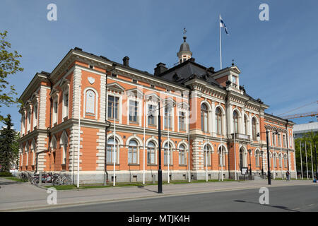 Historic City Hall of Kuopio, the cultural 'capital' of Savo province in Eastern Finland. - Stock Image