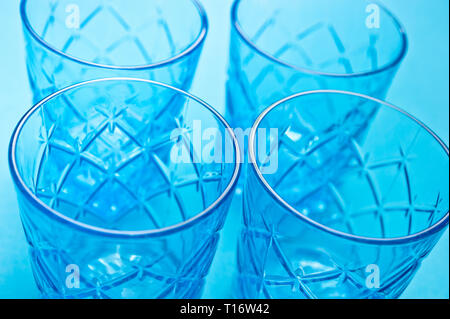 pattern of glass thumblers - Stock Image