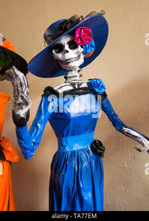 Day of the Dead Skeletons Mexico City - Stock Image