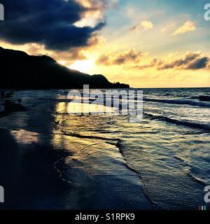 Beach scenic Seychelles - Stock Image