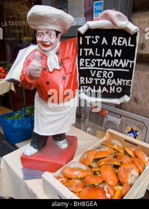 Real Italian Restaurant Rome Lazio Italy - Stock Image