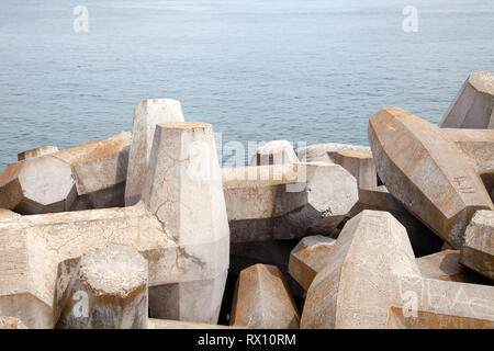 Concrete Water Breakers - Stock Image