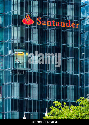 Santander Bank Triton Square offices in central London UK - Stock Image