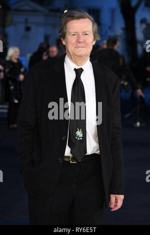 London, UK. 12th Mar, 2019. LONDON, UK. March 08, 2019: David Hare arriving for the premiere of 'The White Crow' at the Curzon Mayfair, London. Picture: Steve Vas/Featureflash Credit: Paul Smith/Alamy Live News - Stock Image