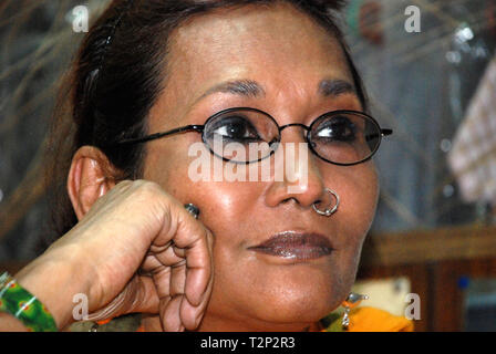 Bibi Russell -Bangladeshi fashion designer & former international model - Stock Image