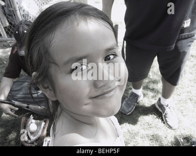 Young girl smiling - Stock Image
