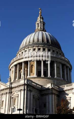 Dome of St Pauls Cathedral London - Stock Image
