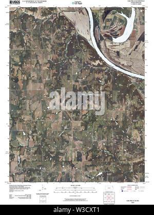 USGS TOPO Map Kansas KS Oak Mills 20091101 TM Restoration - Stock Image