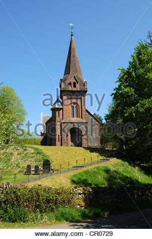 Tweedsmuir Church in the village of Tweedsmuir, Dumfries & Galloway, Scotland - Stock Image